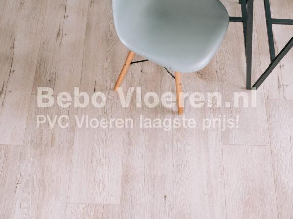 Lichtgrijs beige dry back PVC-vloer