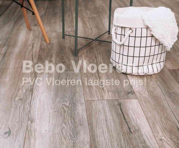 Trendkleur 2021 PVC-vloer verlijmbaar i.c.m. plint + onderhoudsset