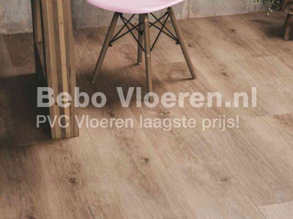 Slijtvaste PVC-vloer verlijmbaar met GRATIS PLINT