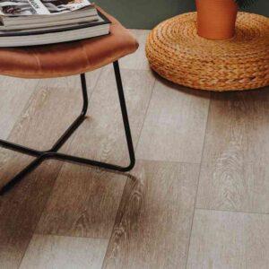 Bruine houtlook PVC-vloer verlijmbaar