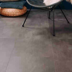 Grijze betonlook PVC-vloer verlijmbaar