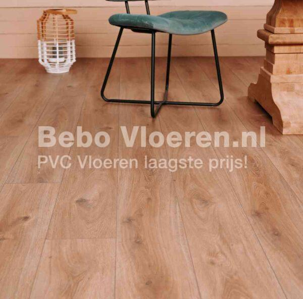 Moderne verlijmbare PVC-vloer i.c.m. plint + onderhoudsset