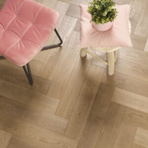 Eiken houten vloer tapis Natural Oak