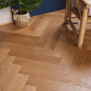 Eiken houten vloer tapis Kastanjebruin