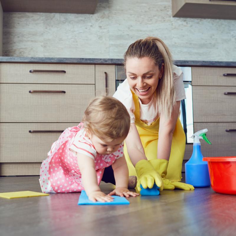 PVC-vloer schoonmaken, hoe doe ik dat?